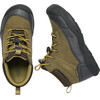 Keen Jasper Mid WP Shoes Youths Dark Olive/Black Olive